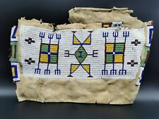 CA. 1880 ANTIKE PLAINS SIOUX INDIAN TIPI TASCHE ANTIQUE BEADED POSSIBLE BAG