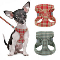 Step in Small Dog Harness & Lead Pet Soft Vest Reflective for Chihuahua Yorkie