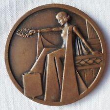 Médaille Bronze FOIRE EXPOSITION BREST BRETAGNE AUGIS MAZZONI FRENCH ART MEDAL