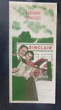 1953 Kentucky Tennessee road map Sinclair gas