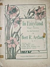 In Fairyland Four Pieces 1910 Sheet Music Fairies Carnival Mazurka Theo Presser