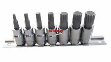 Britool Hallmark Eje Nervado Riel Conector 1cm Drive 7 Piece M4 - M14 (NUEVO
