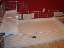 "Guinea Pig Cage Extra Grids Only x17 - 14"" wire panels + x20 Connectors White"