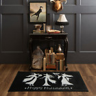 2 ft. x 3 ft. 4 in. Black Halloween Area Rug Witch Trio for Entryway, Kitchen