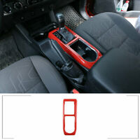 Red Auto Central Control Gear Panel Cover Frame for 2016 - 2020 Toyota Tacoma