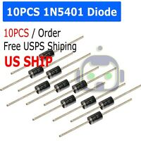 10x 1N5401 MOTOROLA DIODE GEN PURP 100V 3A AXIAL IN5401 2/units