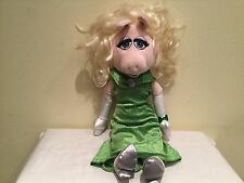 Authentic Disney Store Miss Piggy In Plush Green Evening Gown, Euc, Htf