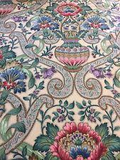 Curtain Sample Vintage Flower Vase Fabric Blind Cushion Craft 124x87cm