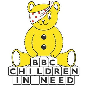 CHILDREN IN NEED ORIGINAL PUDSEY BEAR - IRON ON TSHIRT TRANSFERS - A6 A5 A4
