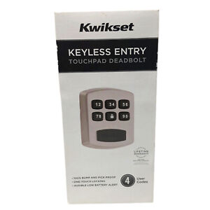 Kwikset Keyless Entry Touchpad Deadbolt 4 User Codes Grade 3 Security 99050-003