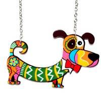 Candy Color Resin dog Cat necklace animal pendants Elephant dolphin dinosaur
