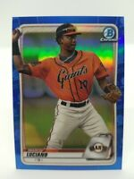 2020 Bowman Chrome Marco Luciano #BCP-103 Blue Refractor 23/150 Giants