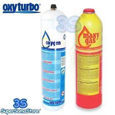 3S BOMBOLA BOMBOLE CARTUCCIA RICAMBIO OSSIGENO + MAXY GAS PER TURBO SET 90 NUOVE