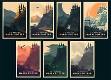 Olly Moss Harry Potter Complete Series 7 Poster Print Set Mondo rare mint movie