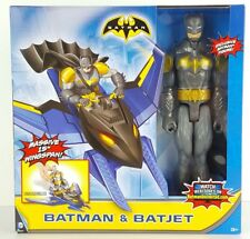 "Batman Unlimited BATJET with 15"" Wingspan + 12"" BATMAN Figure - 3+ DC Comics W2"