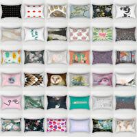 FJ- Rectangle Geometric Pillows Case Throw Pillow Cushions Cover Home Decor Delu