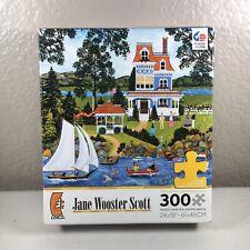 "Jane Wooster Scott Ceaco Jigsaw Puzzle 300 Piece 24""x18"" Lakeside Potpourri"