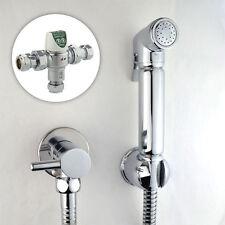 Cromo Ducha Bidet Shattaf Musulmán Spray ducha termostática Kit Conjunto de Latón