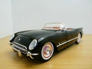 CHEVROLET CORVETTE cabriolet noir 1954 1/18
