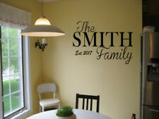 PERSONALIZED FAMILY NAME EST. VINYL WALL ART DECAL LETTERING  WORDS DECOR DIY