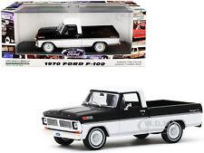 1970 FORD RANGER XLT PICKUP TRUCK BLACK & WHITE 1/43 DIECAST BY GREENLIGHT 86338