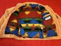 Vintage Berto Lucci Full Zip Up Jacket Mens Sz Large Aztec Print