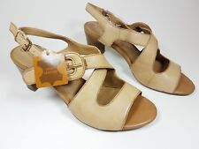 5th Avenue tan leather mid heel sandals uk 5 eu 38 New