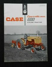 "1958 CUSTODIA 600 SERIES 4-PLOW CASE-O-MATIC TRACTOR"" CATALOG BROCHURE NICE"