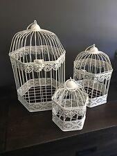 Gorgeous Set Of 3 Bird Cage Centrepiece, Candle Holder,  Wedding deco