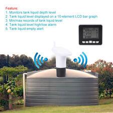 100m Wireless Ultrasonic Water Tank Liquid Level Meter w/Temperature Sensor inm