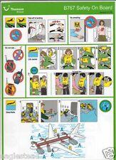Safety Card - Thomson Airways - B767 - c2008 (S2467)