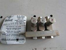 """New 1/8"""" Female NPT Centro-Matic 3 Oil Injector Manifold D-24"""