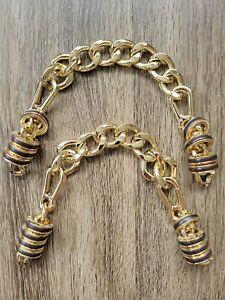 "Replacement Purse Large Gold Chain Strap Handle Handbag Bag 13"" Henri Bendel DIY"