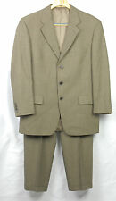 Joseph Abboud mens suit 3 button no vent jacket cuffed pants size 40R