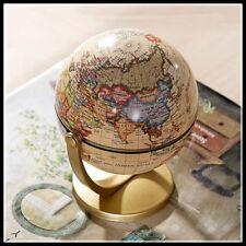 Globe Map Mini Earth World Plastic Stand Vintage Desktop Home Decoration Gifts