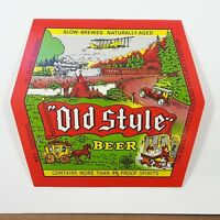 Old Style Beer Bottle Label  Molson's Capilano Brewery Vancouver BC Canada
