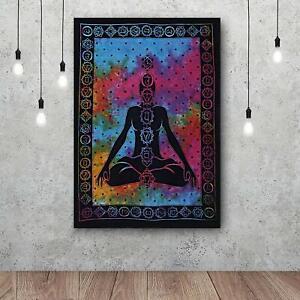 7 Chakra YOGA Meditation Cotton Wall Hanging Mandala Poster Tapestry Bohemian UK
