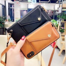 Shoulder Crossbody Leather Card Slot Case Pouch Wallet Phone Bag For SmartPhone