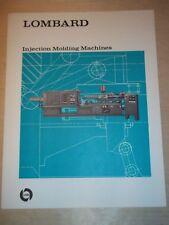 Lombard Plastic Machinery/USM Catalog~Molding Machines