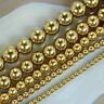 """Golden Hematite Round Gemstones Looae Beads 16"""" 3mm 4mm 6mm 8mm 10mm"""