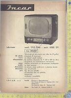 Incar - Televisore mod. TVZ 2202 - Serie ANIE TV- Anni '60