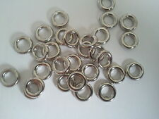 100 x  Acrylic SILVER PLATED CCB Ring Spacer Beads - 8mm