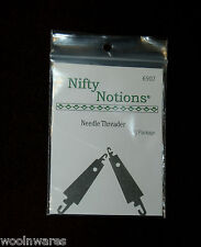 NN FLAT METAL NEEDLE THREADER {2-pack set} ~ For Wool Applique Work