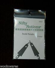 NN FLAT METAL NEEDLE THREADER {2-pack set} ~ For Wool Applique Work