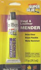 SUPER GLUE Vinyl & Leather Mender 1 fl Oz Dries Clear Flexible Water Resistant
