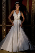 NWOT Authentic Silk White Demetrios Reception Wedding Dress