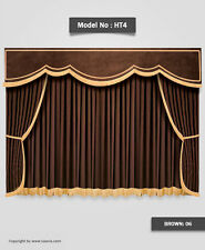 Saaria Stage Curtains Home Movie Theater Velvet Drapery 10'W x 8'H Costum Colors