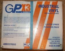 Vinyl Gloves GPX3 Disposable Industrial 3 Mil MEDIUM Clear CASE of 1000 10 Boxes
