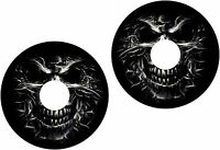 Wheelchair Spoke Guard Skins Evil Skeleton Head Mobility Sticker 1207