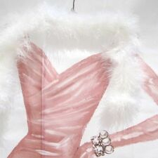 Pink Luxury Feather Rhinestone Pearls Gowns Dressed to Thrill 3d Shower Curtain